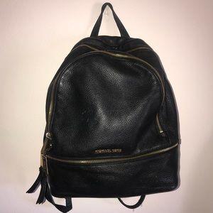Michael kors RHEA backpack in black leather